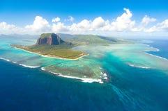 Isla Mauricio aérea Fotografía de archivo
