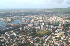 Isla Mauricio aérea imágenes de archivo libres de regalías