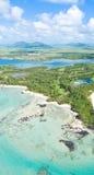 Isla Mauricio aérea Imagenes de archivo