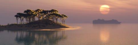 Isla mediterránea Foto de archivo