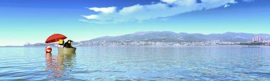 Isla mediterránea Foto de archivo libre de regalías