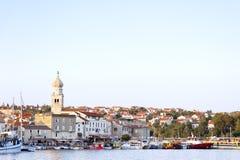 Isla mediterránea hermosa Croacia de Krk Fotografía de archivo libre de regalías