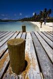 isla Messico contoy, il porto Fotografia Stock