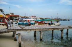 Isla Muerjes海岸线 免版税库存图片