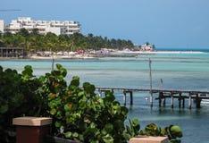 Isla Muerjes海岸线 库存照片