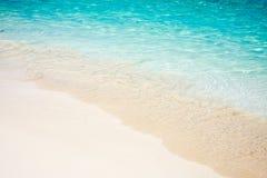 Isla Mujeres令人惊讶和透明水  库存图片