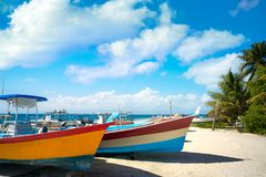 Isla Mujeres海岛加勒比海滩墨西哥 库存照片
