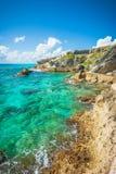 Isla Mujeres,墨西哥视图 免版税图库摄影