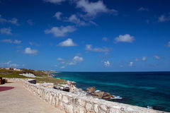 Isla Mujeres Acantilado Amanecer (Cliff of the Dawn) Punta Sur across from Cancun Mexico Royalty Free Stock Images