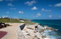 Isla Mujeres Acantilado Amanecer (Klip van de Dageraad) Punta Sur overdwars van Cancun Mexico stock afbeelding