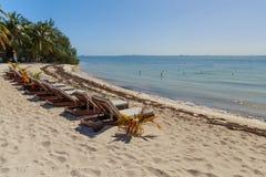 Isla Mujeres Beach Chairs Foto de Stock