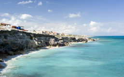 Isla Mujeres Coastline. Waves crashing against the shore in Isla Mujeres, mexico Stock Images