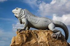 Isla Mujeres Iguana. An iguana statue on the island of Isla Mujeres, Mexico Royalty Free Stock Photos