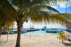 Isla Mujeres island Caribbean beach Mexico. Isla Mujeres island Caribbean beach of Riviera Maya in Mexico Royalty Free Stock Photography