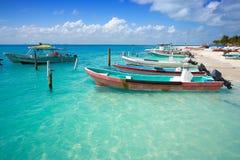 Isla Mujeres island Caribbean beach Mexico. Isla Mujeres island Caribbean beach of Riviera Maya in Mexico Royalty Free Stock Photo