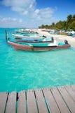 Isla Mujeres island Caribbean beach Mexico. Isla Mujeres island Caribbean beach of Riviera Maya in Mexico Royalty Free Stock Photos