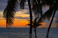 Isla Mujeres island Caribbean beach sunset Royalty Free Stock Photography