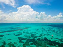 An aerial view of Isla Mujeres in Cancun, Mexico Royalty Free Stock Photography