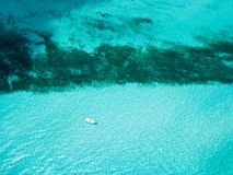 An aerial view of Isla Mujeres in Cancun, Mexico Stock Images