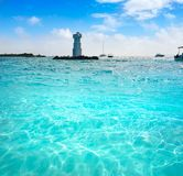 Isla Mujeres Lighthouse El Farito Snorkel Point Royalty Free Stock Photography
