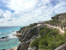 Isla mujeres México. Isla mujeres México mexico sea mar cloud nube green verde cancun rocks beach playa ocean royalty free stock image