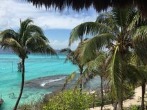 Isla Mujeres. Isla`s Beaches - Playa Norte - Caribe - Cancun - México - blue sea Stock Photo