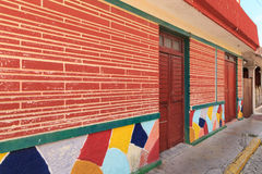 Isla Mujeres Street. Some of the colorful buildings along the street in Isla Mujeres, Mexico Royalty Free Stock Image
