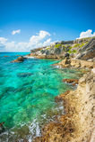 Isla Mujeres, vista del Messico fotografia stock libera da diritti
