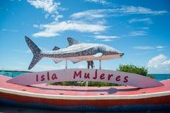 Isla Mujeres. Whaleshark sign Royalty Free Stock Photography