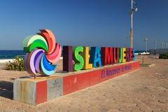 Isla Mujeres znak zdjęcie royalty free