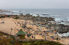Isla Negra Beach Chile Royalty Free Stock Photos