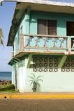 Isla Nicaragua del maíz del edificio de la línea de costa de la fachada Foto de archivo