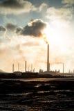 Isla Oil Refinery Curacao - förorening Royaltyfri Bild