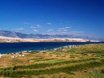 Isla Pag, Croacia foto de archivo libre de regalías