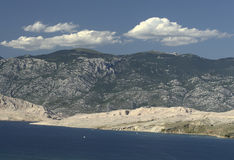 Isla Pag-Croatia Foto de archivo libre de regalías