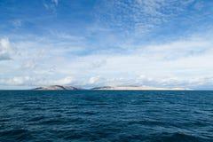 Isla Pag en el mar adriático Fotografía de archivo