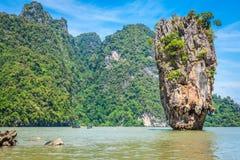 Isla Phang Nga de Phuket James Bond Imagen de archivo libre de regalías