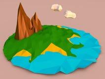 Isla polivinílica baja Foto de archivo libre de regalías