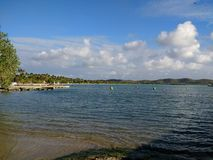 Isla Ratones plaży †'Cobo Rojo, Puerto Rico zdjęcia stock