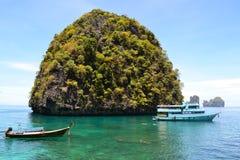 Isla redonda increíble imagen de archivo
