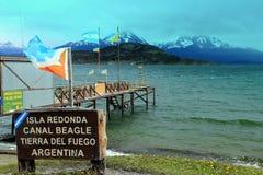 Isla Redonda - Tierra del Fuego - l'Argentina Fotografia Stock Libera da Diritti
