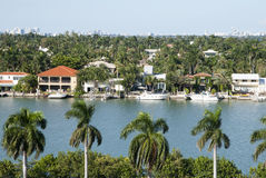 Isla residencial de Miami Imagen de archivo libre de regalías