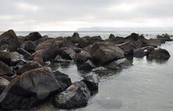 Isla Rocky Shore de Coronado Imágenes de archivo libres de regalías