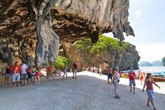 Isla rocosa de James Bond Fotografía de archivo