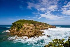 Isla rocosa de Puerto Rico Imagen de archivo