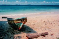 Isla salvaje en el Caribe Fotos de archivo libres de regalías