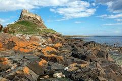 Isla santa de Lindisfarne Foto de archivo libre de regalías
