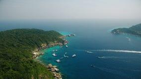 Isla similan aérea en el sur de Tailandia
