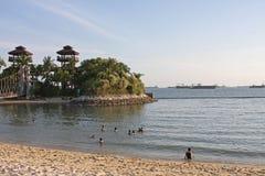 Isla Singapur 02 de Sontosa de la playa de Palawan Imagen de archivo