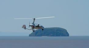 Isla Somerset de Weston Air Festival Autogyro y de Brean abajo Imagen de archivo